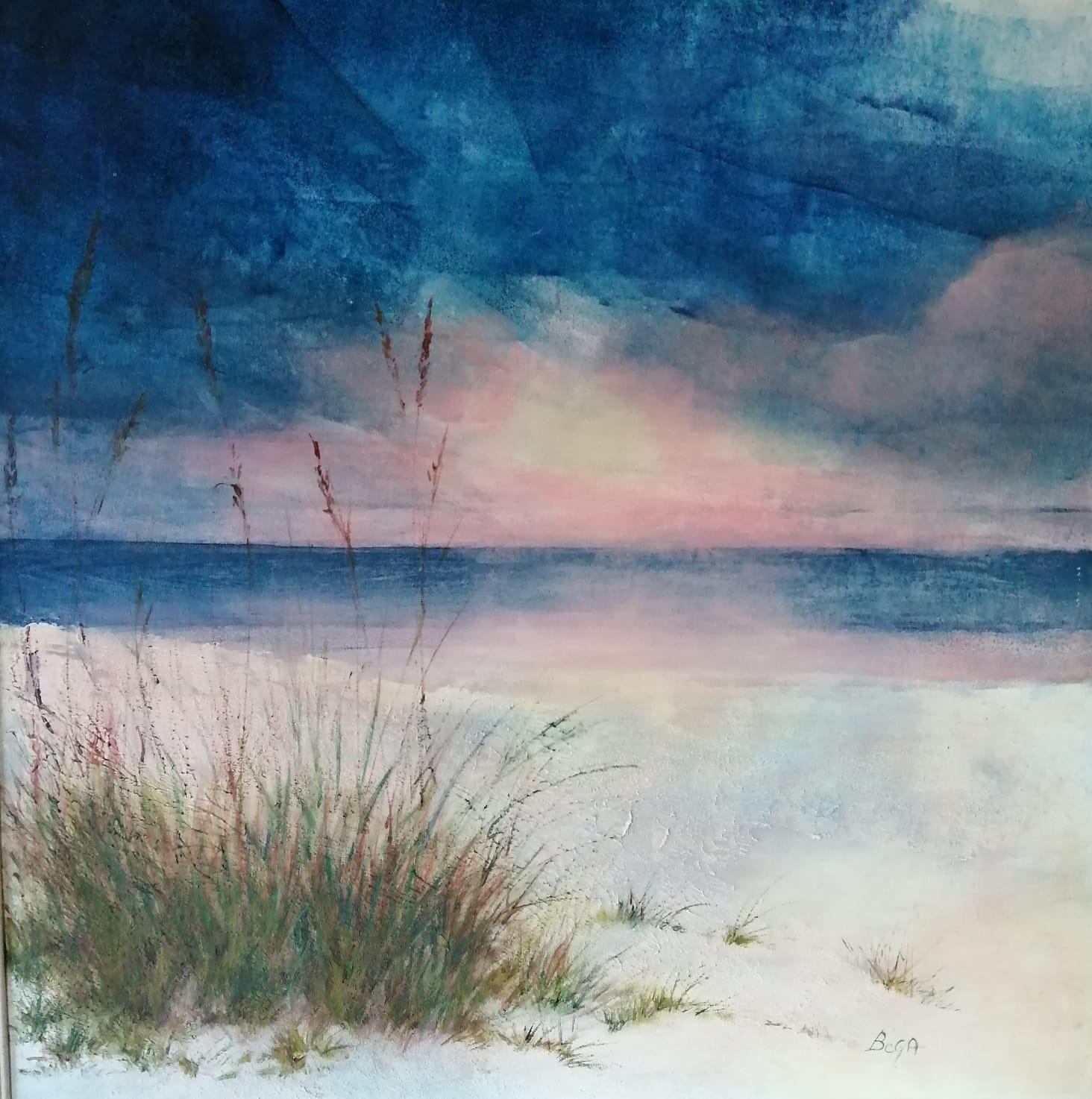 Colori al tramonto - Olio su tela - 80 x 70